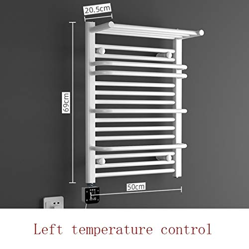 Elektrische handdoekhouder, elektrisch, constante temperatuur, badkamerrek, voor huishoudelijk gebruik, staal, laag koolstofgehalte, 350 W, 690 * Links