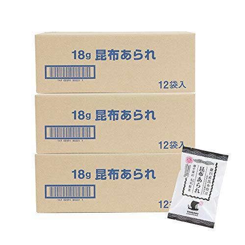 米蔵 あられ(昆布あられ12袋) 国産もち米使用 富山 丸米製菓 (3箱)