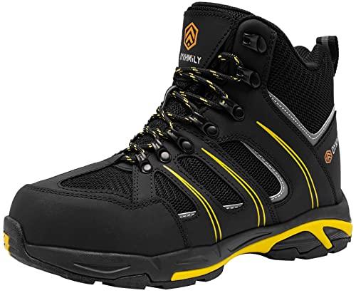 Bottes de Sécurité Imperméable Embout en Acier Chaussures de Sécurité Montante Antidérapant S3 SRC WR Homme Bottes de Travail Anti-crevaison
