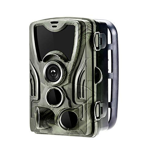MKIU Cámara De Vida Silvestre Cámara De Rastro, 20mp 1080p Cámaras De Caza Móviles Nocturnas, Ángulo De Monitoreo De 120° Activación del Disparador De 0.3s para La Vigilancia De La Vida Silvestre