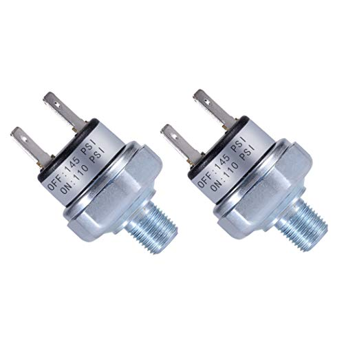 Air Pressure Switch 110-145 PSI Pressure Switch 1/8'-27 NPT DC 24V 12V Pressure Switch Air Compressor Pressure Switch 110 PSI Pressure Switch DC Pressure Switch