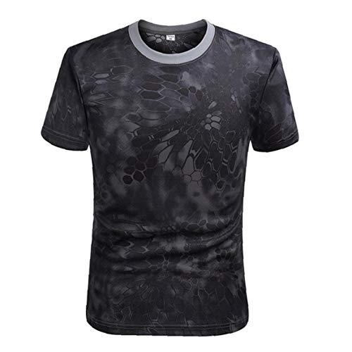 Combate de Secado rápido Camiseta Militares del Ejército T Shirt Camo al...