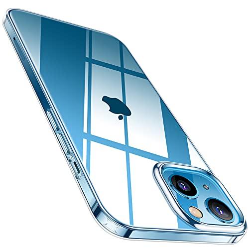 TORRAS Crystal Clear Kompatibel mit iPhone 13 Hülle Hochtransparent Weich Handyhülle iPhone 13 Nie vergilben (Ultra Dünn & Leicht) Kratzfest Starke Stoßfestigkeit Schutzhülle iPhone 13 Hülle Klar