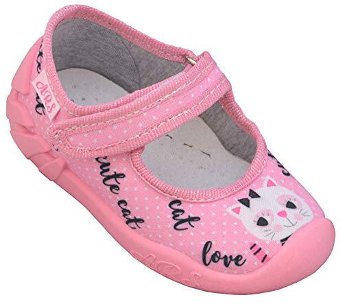 ARS Botas para Niñas Zapatillas Estar por casa per Nina Zapatos Bebe Niña Plantilla de Cuero Primeros Pasos 20 21 22 23 24 25 (Rosa, Numeric_24)
