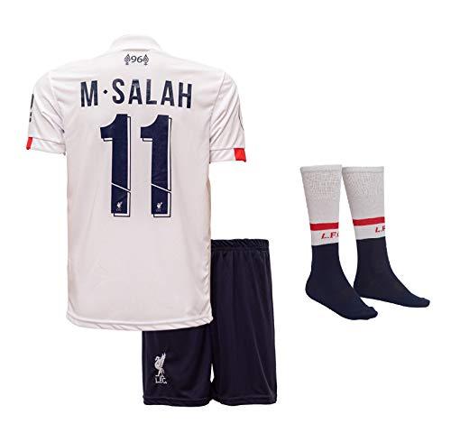 Liverpool M.Salah 2019/20 Auswärts Trikot und Shorts Kinder und Jugend Größe (152-9-10 Jahre, Auswärts)