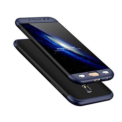 Carcasa protectora de 360 grados + protector de pantalla de cristal templado para Samsung Galaxy J52017. Carcasa Full Body, ultradelgada, antideslizante para Samsung Galaxy J5(2017) J530F
