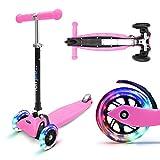 fun pro ONE - der sichere Premium Kinder Roller, LED 3 (DREI) Räder, faltbar, ab Kleinkind...