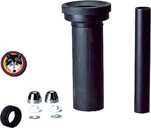 Wand-WC-Anschlussgarnitur 300 mm lang DN 90 für Keramag Icon , 4U verchromt
