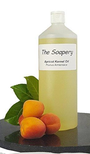 Huile de noyau d'abricot 1 liter - Produit cosmétique -Huile de support pour massage et aromathérapie
