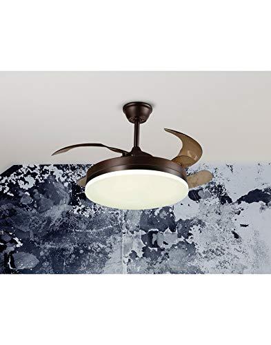 Ventilador de Techo LED CCT 2x36W VENTO Schuller Marron Mate y Negro 4 Aspas Ø50-100cm