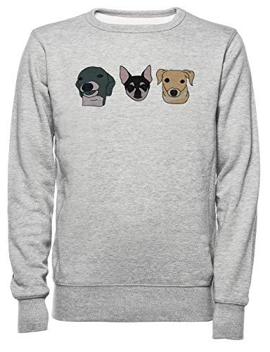 Jennas Honden Dames Mannen Unisex Sweatshirt Trui Grijs Women's Men's Unisex Sweatshirt Jumper Grey