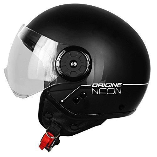 Origine Helmets 201585010100103 Neon Street Casco Demi Jet, Nero, S