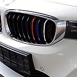 40piezas coche Pegatinas set para frontal y enfriador Barbacoa–Finest Folia pantalla Ornamentales rayas rayas color: blanco, rojo, azul claro y azul oscuro