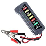 heacker Carro del Coche de 12 voltios Tester batería Indicador de luz LED Display Motocicleta Battery Checker