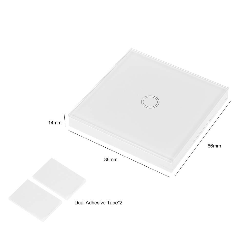 OWSOO SONOFF Interruptor Tactil Pared T433 86 Tipo 433MHz 1 Gang Transmisor de Control Remoto Inalámbrico Soporta Todos los Productos SONOFF RF 433MHz Lámpara de Escalera de Control, 1PCS: Amazon.es: Bricolaje y