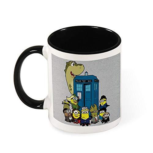 Dr Who Doc Minion 12 and Chums Keramik-Kaffeetasse, Geschenk für Frauen, Mädchen, Ehefrau, Mutter, Oma, 325 ml