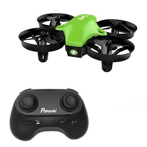 Potensic Mini Drohne für Kinder und Anfänger, RC Quadrocopter, Mini Drohne mit Höhenhaltemodus, Start / Landung mit einem Knopfdruck, Kopflos Modus, Spielzeug Drohne Helikopter A20 Grün