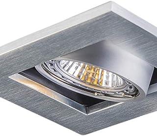 QAZQA Moderne Ensemble de 10 spots encastrer/encastrabless en aluminium - Qure Aluminium Carré GU10 Max. 10 x 50 Watt/Lumi...