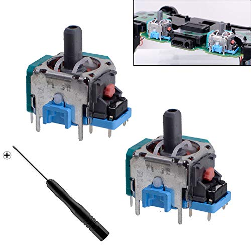2 x Analog Sensor Module 3D Joysticks Screwdrivers for Sony PS4 PS4 Slim PS4 Pro Controller Repair Part