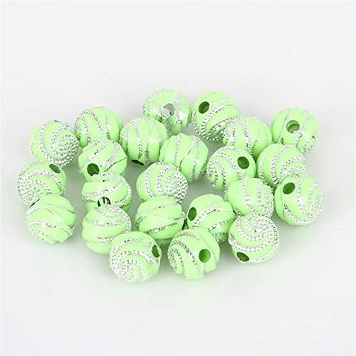 WEIMEIDA SLXZ602 100 unids/Lote 8 mm Rhinestone Colorido Perlas acrílicas Redondas patrón de Espiral Perlas para DIY Craft Scrapbook Decoration Jqbb (Color : 6)