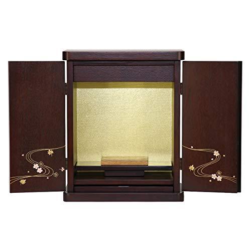 ミニ仏壇 みやこ 紫檀色 12号 コンパクト 高さ37.5cm x 幅30cm