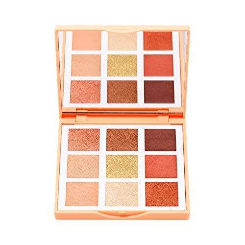 3INA MAKEUP - Vegan - Cruelty Free - The Sunset Eyeshadow Palette - Lidschattenpalette 9 hochpigmentierte Brauntöne und weiche Beigetöne - Matte und Mettalic Finish - Multicolor