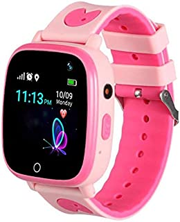 SeTracker Smart Watch for Kids, GPS/LBS Tracker Micro Sim Card Support Smart Phone Control (Android, iOS), SOS Call, Touch Screen, Camera, Flashlight and More (3.GPS/LBS - WaterResistant, Pink)