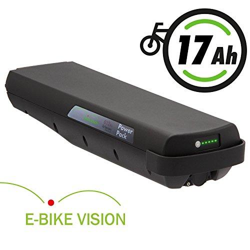 E-BIKE VISION Lithium Ionen Akku für Bosch PowerPack Classic+ 36V 17Ah 612Wh