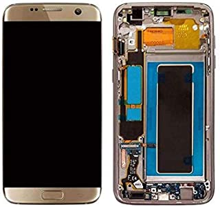 Galaxy S7 Edge LCD Display Digitizer Touch Screen Assembly for All Models (G935A G935V G935P G935T) by Mr Repair Parts (for Phone Repair) (Gold)