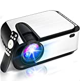 """Mini Projector, [2020 Upgraded] 5500 Lumen Video Projector, 1080P Supported 210"""" Display, Compatible"""