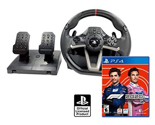 Volante e pedali PS4 Playstation 4 originale con licenza Sony + Formula 1 2020 / F1 2020 PS4