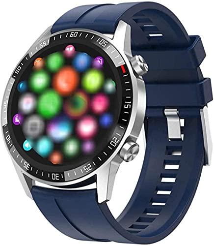 Smart Watch Llamada Bluetooth Llamada Completa Reloj Redondo Monitor de Ritmo cardíaco Monitor de Monitor Respuesta Call Sport Fitness Men Smart Watch-B-D