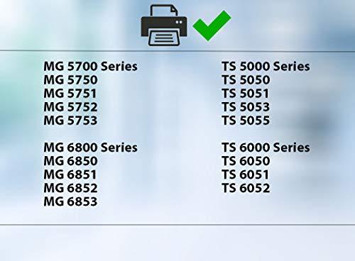 20 Cartuchos de Tinta con viruta Compatible con Canon PGI-570 CLI-571 para Pixma MG5750 MG5751 MG5752 MG5753 MG6850 MG6851 MG6852 MG6853 TS5050 TS5051 TS5053 TS5055 TS6050 TS6051 TS6052