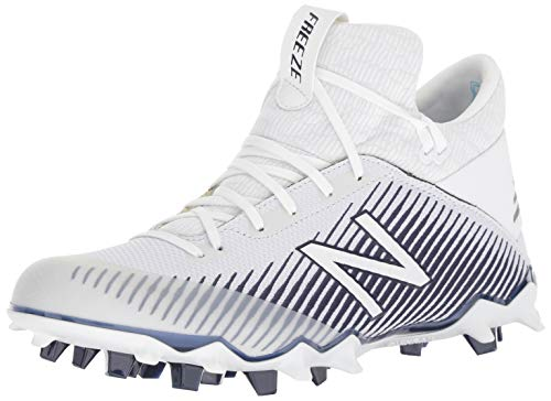 New Balance Men's FreezeLX 2.0 Box Lacrosse Shoe, White/Blue, 11 M US