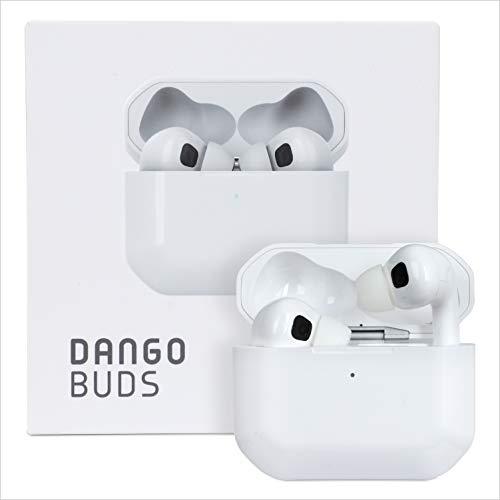DangoBuds Kabelloses Bluetooth Headset mit Mikrofon – kabellose IN Ear Kopfhörer mit Noise Cancelling | Bluetooth Kopfhörer In Ear für Gaming und Sport | Sport Kopfhörer mit Ladecase (weiß)