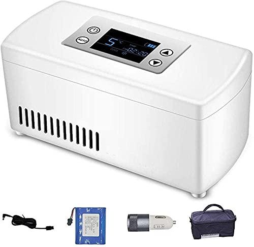 XnalLKJ Nevera Portátil, Caja Refrigerada De Insulina con Batería, Automóvil, Viajes, Mini Medicina Refrigeradora Y Refrigerador De Insulina, Adecuado para Insulina, Interferón