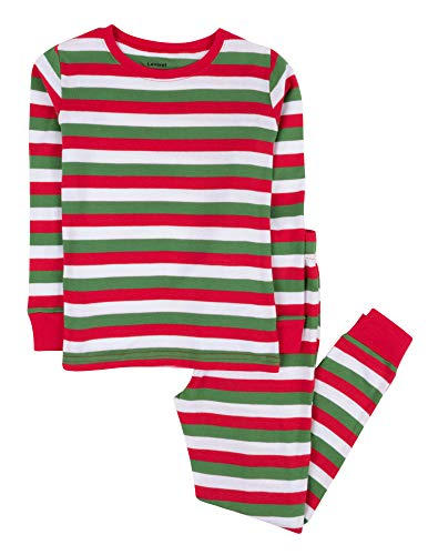 Leveret Red & White Green 2 Piece Pajama (6 Years)