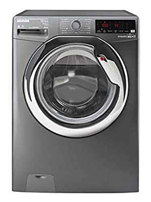 Hoover WDXOA4106HCR Freestanding Dynamic Next Washer Dryer, NFC Connected, 10kg+6kg Load, 1400rpm, Graphite