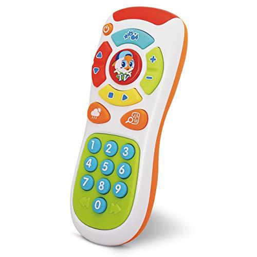 Control Remoto de Bebé – 20 Botones Únicos para Aprender, Reproduce Música para Bebés, Luces Parpadeantes, Actividades de Aprendizaje de Números e Idioma – Para Niños de 6 meses en Adelante