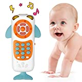 Laelr Baby Spielzeug Smartphone Frühe Pädagogische Kleine Touch-Fernbedienung Früherziehung Baby Kinder Pädagogisches Spielzeug Mit Musik Handy Spielzeug Lernhandy für Baby 6 Monate(Weiß)