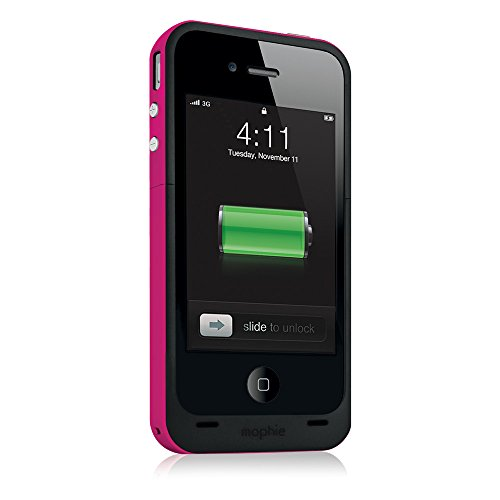mophie juice pack Plus for iPhone 4/4S (2,000mAh) - Magenta