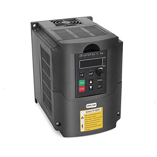VFD 220V 1.5KW 3hp Variador de frecuencia variable, craftsman168 CNC VFD Convertidor del inversor de la unidad de motor para el control de velocidad del motor del husillo serie YL (1.5KW, 220V)