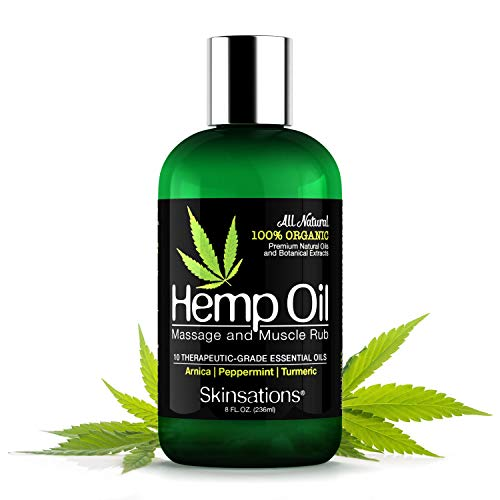 Best Buy! Skinsations – Hemp Oil Muscle Rub & Massage Oil | 100% Organic, Sore Muscle Pain Relief ...