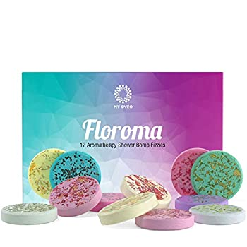 Floroma Aromatherapy Shower Steamers - Variety Set Of 12x Shower Bombs With Essential Oils For Relaxation Shower Bomb Melts For Women Who Has Everything Shower Steamer Tablets  Fizzies  For Home Spa