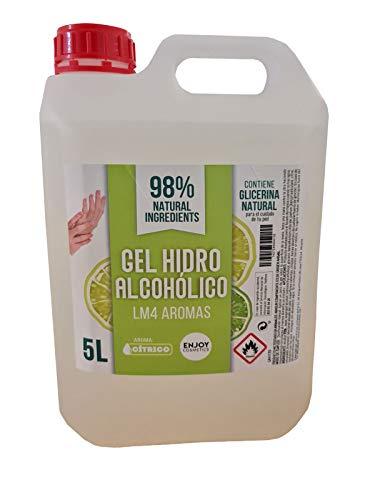 Gel hidroalcohólico 5L AROMA LIMON. 70% alcohol. Para manos y superficies, desinfección...