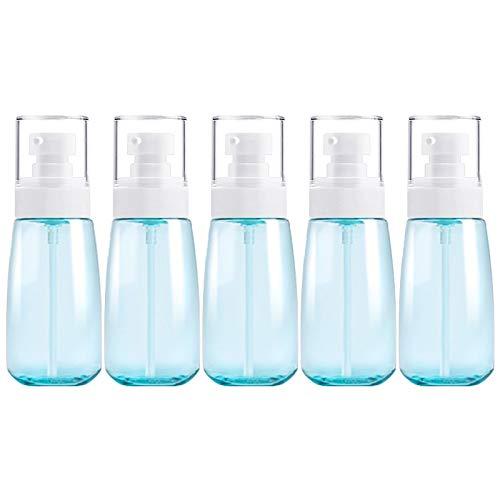 PAN-FR Bouteilles cosmétiques, 5 PCS Bouteilles en Plastique de Voyage, 60ml Bouteilles de Rechange (Couleur : Blue)