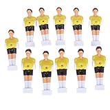 11Pcs Foosball Man Table Guys Man Soccer Player Part 1/2 inch (Yellow)