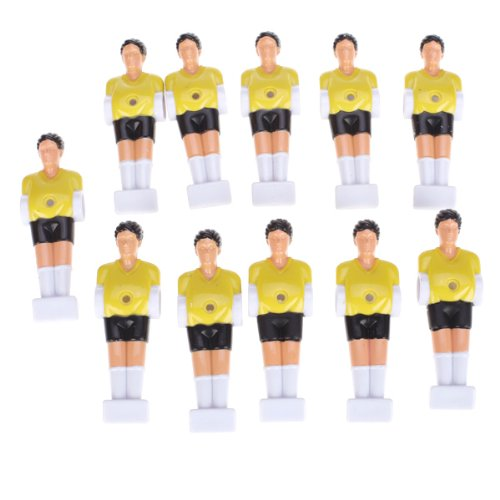 11pcs Foot Homme Tableau Gars Homme Footballeur Partie 1/2 inch - Jaune
