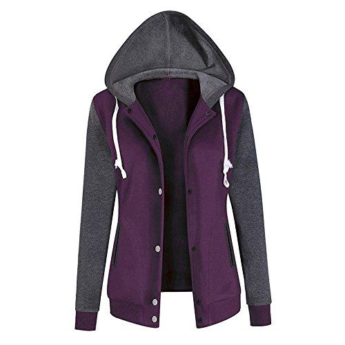 Subfamily-Pullover Damen Casual Winter Kapuzenpullover Teddy-Fleece Langarm Oversize Sweatshirt Hoodie Einfarbig Warm (Größe?S- Bis -3XL)