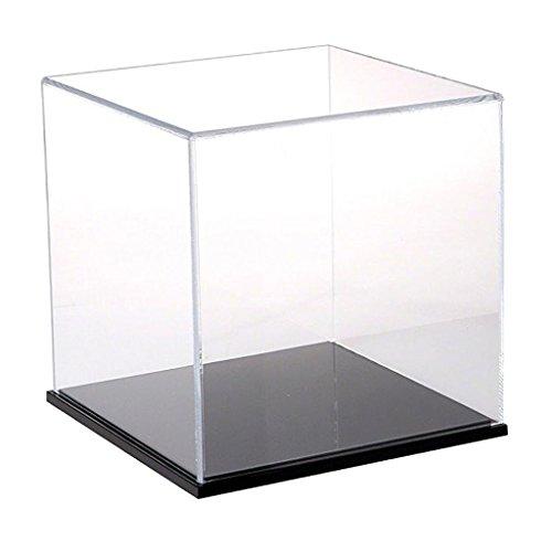 D DOLITY Staubfrei Einzelvitrine Vitrine Display Box, aus Acryl - 20x20x20cm